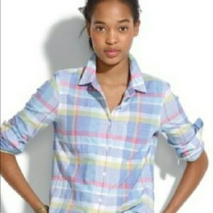 Madewell Colorful Plaid Button Up Sz M